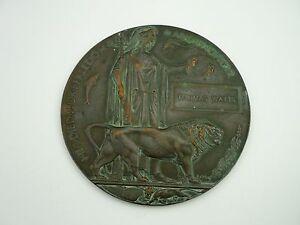 WW1 Memorial Plaque Thomas Watts