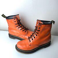 Women's Rare Patent Orange Dr Martens 1460 Boots UK5 Vintage Retro 90s