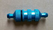 RC Nitro engine fuel filter 1/8 1/10 Car/Buggy super quality mesh Blue Alloy