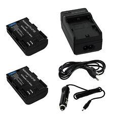 2x Battery Batterie Charger Chargeur für Canon LP-E6 EOS Mark II 7D 70D 60D 60Da