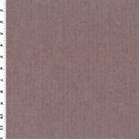 Maroon/White Wool Herringbone Suiting, Fabric By The Yard