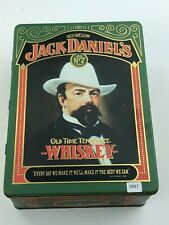 Vintage Jack Daniels Old Time Tennessee Whiskey Tin Box Bottle 2Glass Set No.7
