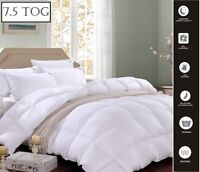 Hotel Quality Duck Feather & Down Duvet + Free Pillows ** 7.5 Tog ** All 4 Sizes