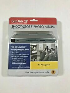 SanDisk Shoot and Store Photo Album for Digital Photos & Video Clips New In Box