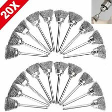 20X Stainless Steel Wire Brush For Dremel Rotary Die Grinder Removal Wheel Tool