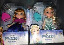 "Disney Princess Petite ""ANNA & ELSA"" Frozen Dolls 6 Inches"