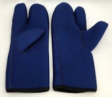 New listing Fathom Durasoft Scuba Diving Gloves Mitts, Blue (Rf828)