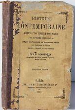 HISTOIRE CONTEMPORAINE DEPUIS 1789 - DUCOUDRAY - HACHETTE PARIS - 1867