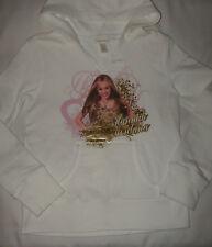 Limited Too Hannah Montana White Hoodie Sweatshirt Top Size 10 - So CUTE ~