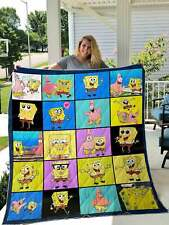 Sponge-Bob SquarePants Cute Quilt,Fleece Blanket