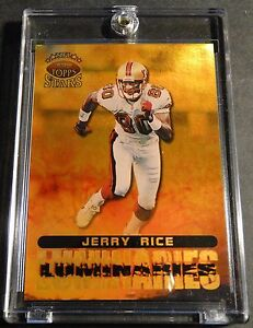 1998 JERRY RICE TOPPS STARS LUMINARIES #L5 GOLD RAINBOW SERIAL #2/5 FORTY NINERS