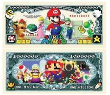 Set of 100 - Super Mario Brothers Million Dollar Bill