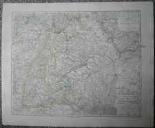 1848 Stieler map RHINE FROM LAKE OF CONSTANCE TO COLOGNE (#30)