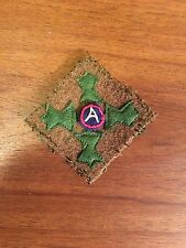 """WWI US Army 4th """"Ivy""""  Division,3rd Army  patch wool"""