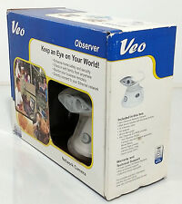 VEO OBSERVER WIRELESS NETWORK IP CAMERA WHITE NO CORDS WORKS GREAT TILT PAN