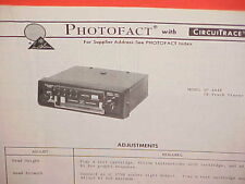 1973 PIONEER CAR AUTO 8-TRACK STEREO TAPE PLAYER SERVICE MANUAL MODEL QP-444E