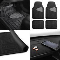 Car Floor Mats Dash Mat Combo For Auto Car Heavy Duty Gray Black