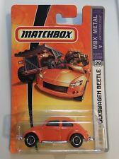 Matchbox 1:64 1962 Volkswagen Beetle VW Bug Orange NIB