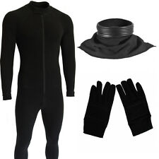 stormtrooper costume undersuit body suit neck seal and gloves bundle
