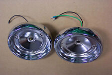 1955 Ford & Thunderbird Tail Light Chrome Housings NEW Pair Show Condition 55