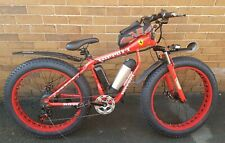 Ferrari Red FAT TYRE ADULT ELECTRIC 350W BIKE Rockbros Accessories Free Delivery