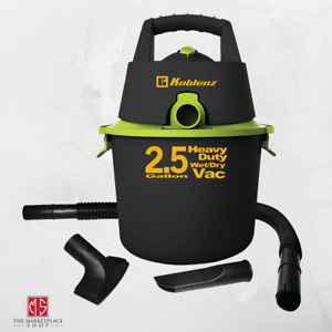 SHOP VAC WET DRY VACUUM Black 2.5 Gallon Heavy Duty With Attachments NEW