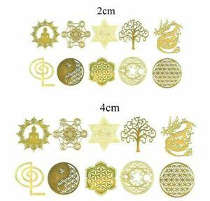 Sacred geometry Cho Ku Rei Flower life Yoga Buddha Star Energy Copper Sticker