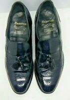 Hanover Master Flex Mens Black Leather Wing Tip Tassel Loafers Size 10.5 E/C