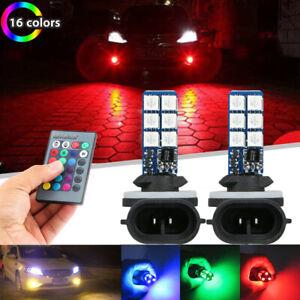 2x Multi-Coloured 881 5050 12SMD LED RGB Car Headlight Fog Light Lamp Bulbs