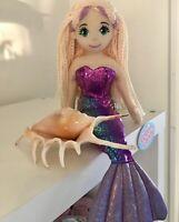 """~❤ ~ Sereia Boneca De Pelúcia Macia Média 45cms 18/"""" Flip Lantejoula Brinquedo macio Aqua Blue Lucy"""