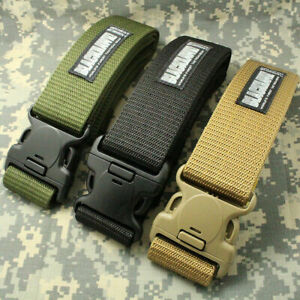 Men Adjustable Survival Heavy Duty Combat Waistband Army Military Tactical Belts