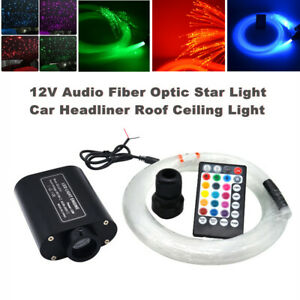 RGB Audio Fiber Optic Star Light Car Headliner Roof Ceiling Light Remote Control