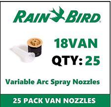 25 Rain Bird 18VAN 18' 0-360° Adjustable Variable Arc Spray Sprinkler Nozzles