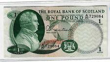 The Royal Bank of Scotland 1 pound p-327 VF