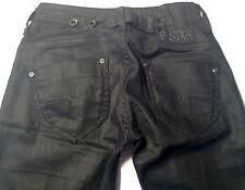 NEW-NWOT-RRP$369-Womens G-Star Raw Stretch 'MIDGE SKINNY WMN' Black Coated Jeans