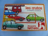 DOMINO PUZZLE LES AUTOS de chez Nathan , jouet vintage