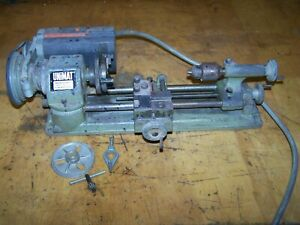 Unimat SL1000 Lathe with Chuck & Face Plate Works Fine