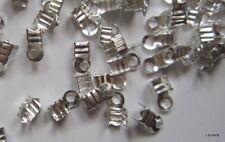 Terminales 6 x 3 x 2,5 mm X 100 UNIDADES baño plata cordón collar abalorios
