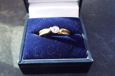 band Solitaire diamond ring 18ct and Platinum dual