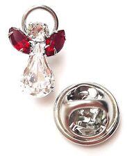 Elements Birthstone Guardian Angel Pin January Garnet with Swarovski Crystal
