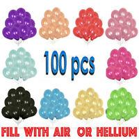 100 X Large PLAIN BALOONS BALLONS helium BALLOONS Quality Party Birthday Wedding