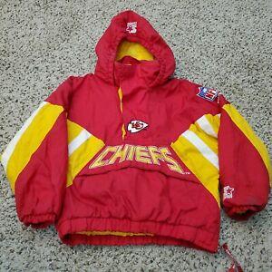 Vintage 90s Kansas City Chiefs Starter Jacket Boys Youth Medium