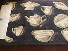 Martha Stewart Hooked Accent Rug NWT Teapot Gray White Brown China 21 x 34