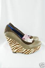 POETIC LICENCE Zebra Print Body Love Wedge Platform Heels (UK 6 / EU 39)