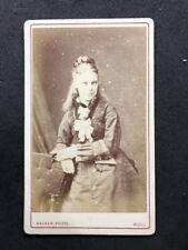 Victorian Carte De Visite CDV: Lady: Walker: Sky Smile