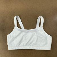 Women's Size 44DD White Adjustable Strap Sports Bra
