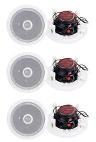 """6) Pyle PDIC60 6.5"""" 250W 2 Way Round In Wall/Ceiling Home Speakers System Audio"""