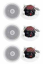 "6) Pyle PDIC60 6.5"" 250W 2 Way Round In Wall/Ceiling Home Speakers System Audio"