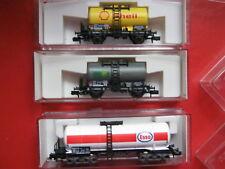 Fleischmann N 8411 8412 8480 K 3x Kesselwagen SHELL + BP + ESSO DB Ep.4 NEU OVP