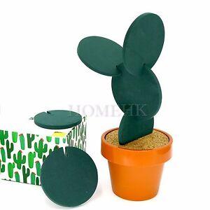Cactus Plant Pot Coaster Set 7pcs Home Decor Drinkware Set Cup Mug Bar Build Toy